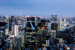 東京都心の夜景の写真素材 [FYI03226610]