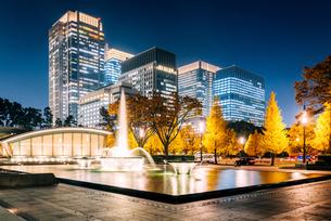東京 千代田区 和田倉噴水公園の夜景の写真素材 [FYI03226626]