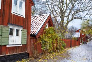 セーデルマルムにある古い家並みの写真素材 [FYI03226707]