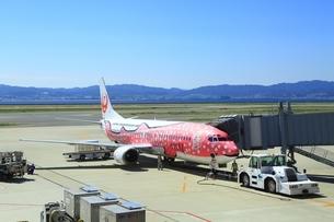 大阪国際空港とジンベエジェットの写真素材 [FYI03226755]