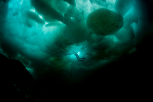 流氷ダイビングの写真素材 [FYI03226855]