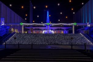 茨城県立県民文化センターのクリスマスイルミネーションの写真素材 [FYI03226943]