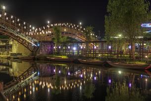 夜の水郷潮来あやめ園の写真素材 [FYI03227225]