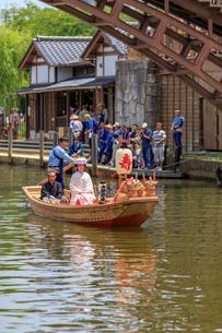 水郷潮来 嫁入り船の写真素材 [FYI03227246]