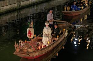 水郷潮来 嫁入り船の写真素材 [FYI03227257]