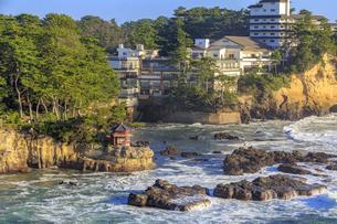 五浦海岸の六角堂の写真素材 [FYI03227339]