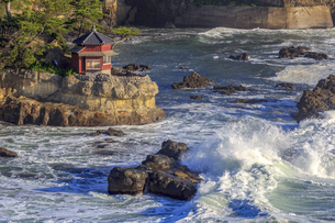 五浦海岸の六角堂の写真素材 [FYI03227345]