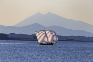 霞ヶ浦の帆引き船の写真素材 [FYI03227407]