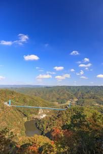 赤岩の展望台より竜神大橋を望むの写真素材 [FYI03227484]