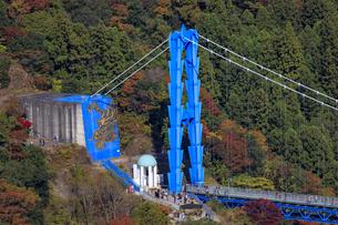 赤岩の展望台より竜神大橋を望むの写真素材 [FYI03227493]