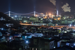 室蘭工場夜景の写真素材 [FYI03228180]