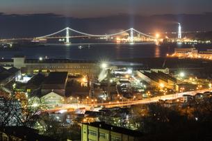 室蘭工場夜景の写真素材 [FYI03228181]
