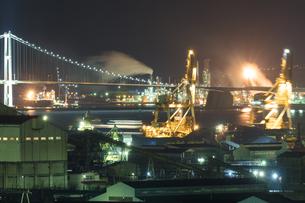 室蘭工場夜景の写真素材 [FYI03228182]