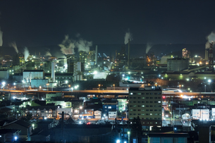 室蘭工場夜景の写真素材 [FYI03228185]