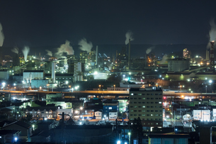 室蘭工場夜景の写真素材 [FYI03228186]