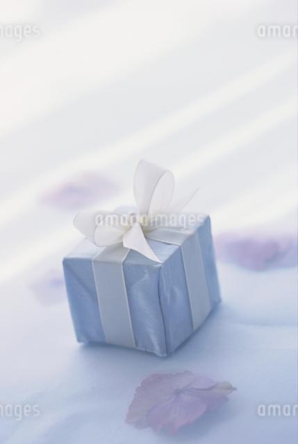 白いリボンのギフトボックスの写真素材 [FYI03230140]