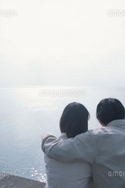 日本人のカップル後ろ姿の写真素材 [FYI03230354]