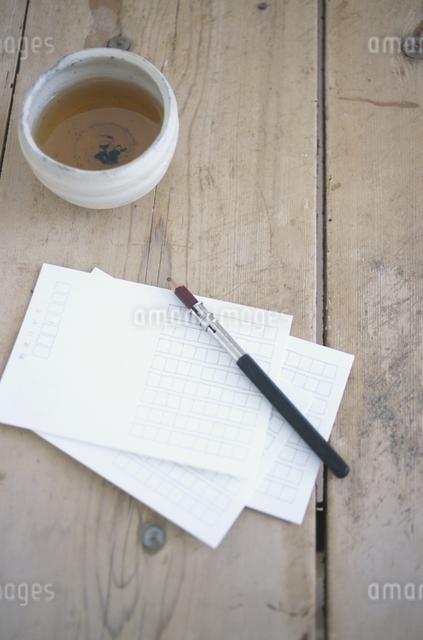 番茶と小物の写真素材 [FYI03231000]