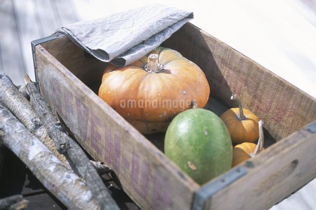 木箱の中の野菜の写真素材 [FYI03231102]