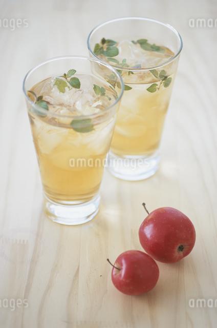 アイスティーとリンゴの写真素材 [FYI03231127]