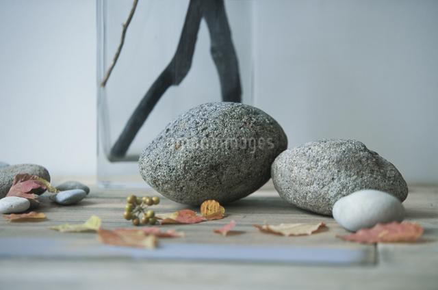 木や石のオブジェの写真素材 [FYI03231164]