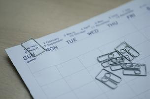 カレンダーとクリップの写真素材 [FYI03235081]