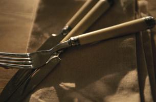 ナイフとフォークの写真素材 [FYI03236146]