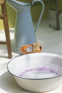 洗面器の中のビーダマの写真素材 [FYI03236574]