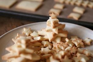沢山の星型クッキーの写真素材 [FYI03238389]