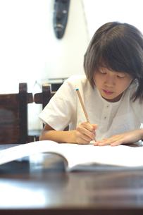 勉強をする女の子の写真素材 [FYI03238568]