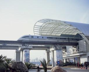 リニアモーターカー龍陽路駅の写真素材 [FYI03242510]