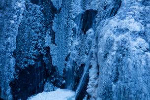 氷結した袋田の滝の写真素材 [FYI03243495]