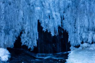 氷結した袋田の滝の写真素材 [FYI03243513]