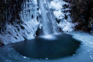 氷結した払沢の滝の写真素材 [FYI03243533]