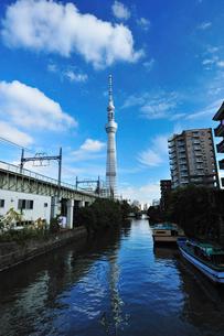 枕橋から見た東京スカイツリーの写真素材 [FYI03243900]