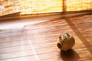 廊下に置かれたブタの蚊取り線香の写真素材 [FYI03244742]