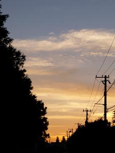 夕焼け雲の写真素材 [FYI03247582]