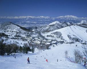 一ノ瀬スキー場よりの眺めの写真素材 [FYI03248160]