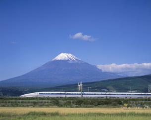 富士と新幹線500系の写真素材 [FYI03248441]