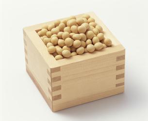 大豆を升で計量するの写真素材 [FYI03248797]