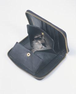 小銭入れと硬貨の写真素材 [FYI03248807]