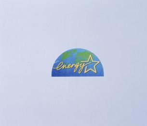 国際エネルギースターロゴ リサイクルマークの写真素材 [FYI03249043]
