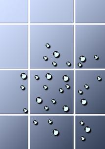 タイルと水滴のイラスト素材 [FYI03249153]