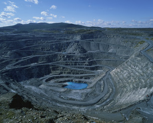 アスベスト鉱山の写真素材 [FYI03249889]
