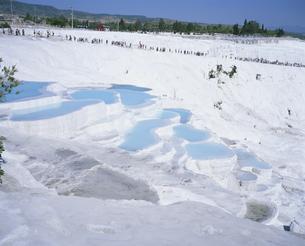 パムッカレ 石灰棚 トルコの写真素材 [FYI03253399]