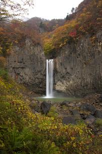苗名滝の紅葉の写真素材 [FYI03253857]