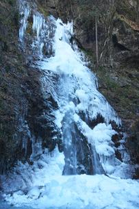 氷結した払沢の滝の写真素材 [FYI03253918]