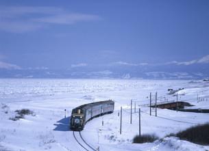 オホーツク流氷ノロッコ号の写真素材 [FYI03254976]