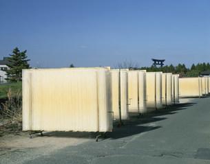 三輪素麺の天日干しの写真素材 [FYI03255179]