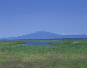 涛沸湖からの斜里岳の写真素材 [FYI03255233]